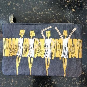 Handbags - Cosmetic Pouch Black Gold White Girls NEW!!